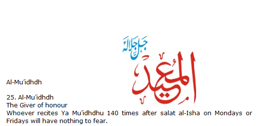 Allah name Al-Muidhdh