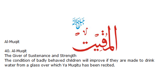 Allah name Al-Muqit