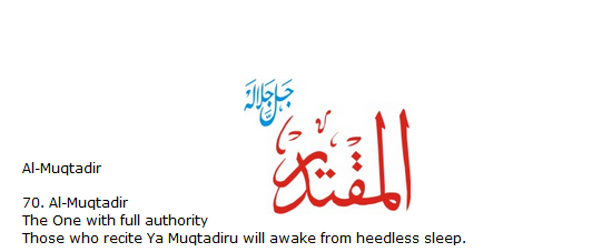 Allah name Al-muqtadir