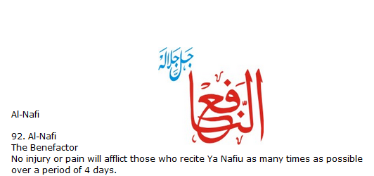 Allah name Al-nafi