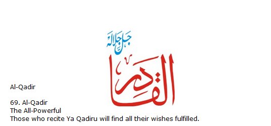 Allah name Al-qadir