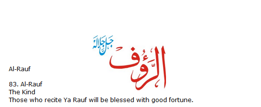 Allah name Al-rauf
