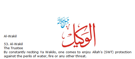 Allah name Al-wakil